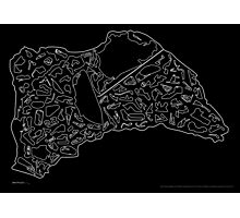 Race Tracks to Scale - Plain Layouts (Inverted) Photographic Print