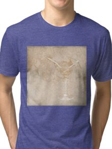 Cocktail and umbrella Tri-blend T-Shirt