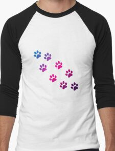 Cat Paws Men's Baseball ¾ T-Shirt
