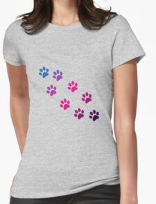 Cat Paws Womens Fitted T-Shirt