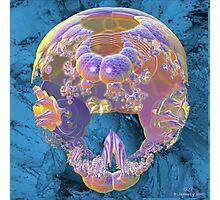 Fossil Fractal Skull Photographic Print