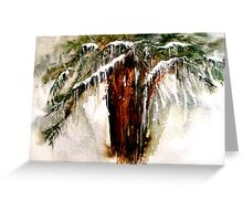 Concerto....A Winter Poem... Greeting Card