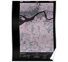 USGS Topo Map Washington State WA Aberdeen 20110406 TM Inverted Poster