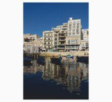 Bright Blue LOVE, Upside Down - Malta's St Julian's Harbor Baby Tee