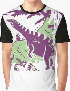 Long Necks - Green and Purple Graphic T-Shirt