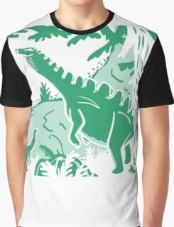 Long Necks - Blue and Green Graphic T-Shirt