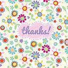 fresh flowers thank you card by jillhowarth