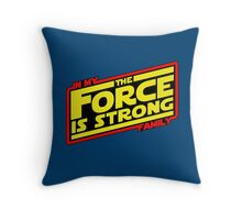 The force is strong... Retro Empire Edition Throw Pillow
