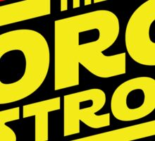 The force is strong... Retro Empire Edition Sticker