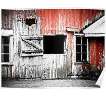 Red Barn Door Poster