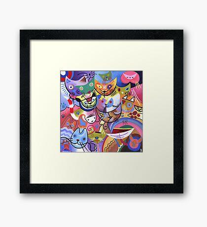 Kandinsky's Kats Framed Print