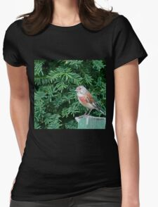An uncommon Common Linnet Womens Fitted T-Shirt