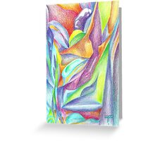 geometry abstraction Greeting Card