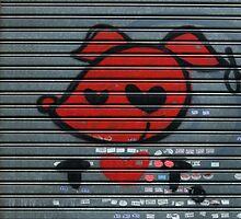 red pooch, heart graffiti by offpeaktraveler