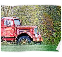 Abandoned Truck Poster