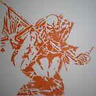Iron Maiden - The Trooper - Eddie - orange by indiacording