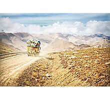 Dusty Ride to Mount Everest Photographic Print