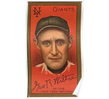 Benjamin K Edwards Collection George Wiltse New York Giants baseball card portrait 001 Poster