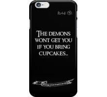 deadbunneh asylum - the demons won't get you if you bring cupcakes iPhone Case/Skin