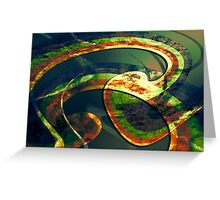 Twirl green Greeting Card