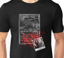deadbunny asylum - admittance form Unisex T-Shirt