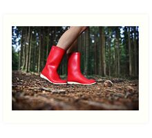 Girl in the Red Gum Boots Art Print