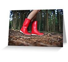 Girl in the Red Gum Boots Greeting Card