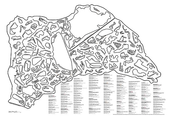 Race Tracks to Scale - Listed and Labelled by Matt Dunlop