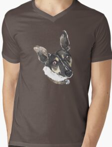 Portrait of Monty Mens V-Neck T-Shirt