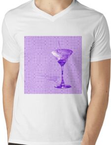 Purple cocktail on texture Mens V-Neck T-Shirt