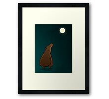 Bear (Moon) Framed Print