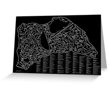 Race Tracks to Scale (Inverted) Greeting Card