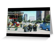 Lego Bodyguards Greeting Card