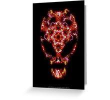 Alien Energy face Greeting Card