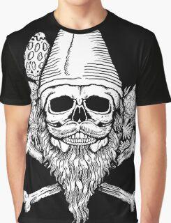 Gnome Skull Graphic T-Shirt