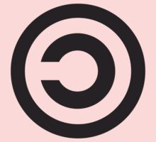 Copyleft Symbol - Support the Free Web! One Piece - Short Sleeve