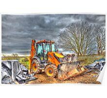 Resting Digger Poster