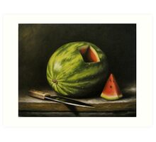 Watermelon, Cut Art Print