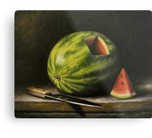 Watermelon, Cut Metal Print