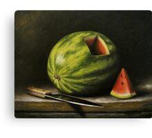 Watermelon, Cut Canvas Print