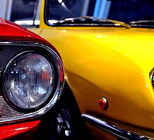 retro italian car Fiat Dino by delzico