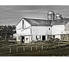 Beautiful White Barn Photographic Print