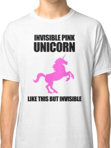 Invisible Pink Unicorn Classic T-Shirt