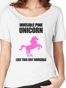 Invisible Pink Unicorn Women's Relaxed Fit T-Shirt