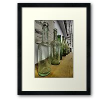 Green Bottles Framed Print