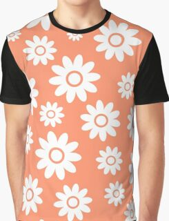 Coral Fun daisy style flower pattern Graphic T-Shirt