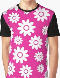 Hot Pink Fun daisy style flower pattern Graphic T-Shirt