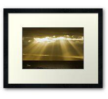 Maui Sun Rays Framed Print