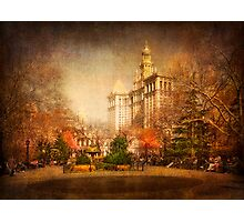 New York in Watercolour Photographic Print