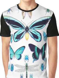 Teal Insect Collection Graphic T-Shirt